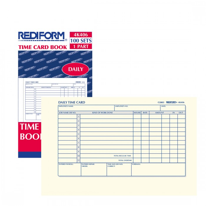 Time Card Pad - Rediform