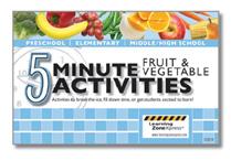 5 minute fruit and veggies