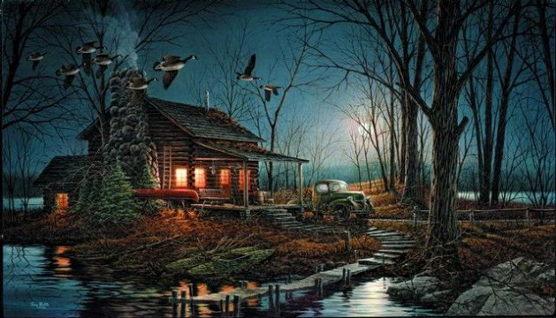 Fall Harvest Wallpaper Moonlight Retreat Redlin Art Center
