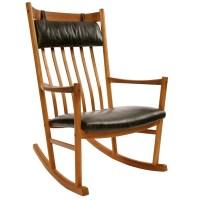 Danish Craftsman Rocking Chair | red modern furniture