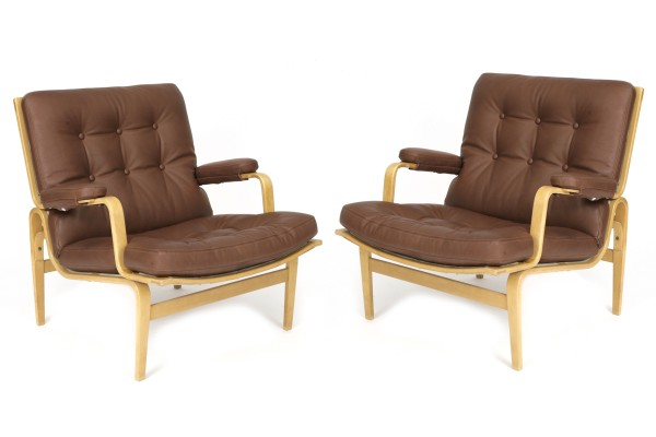 Chairs pair of bruno mathsson for dux ingrid lounge chairs circa