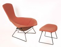 Iconic Harry Bertoia for Knoll Bird Chair and Ottoman ...