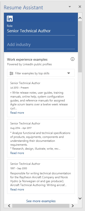 Using Microsoft Word\u0027s LinkedIn-Powered Resume Assistant