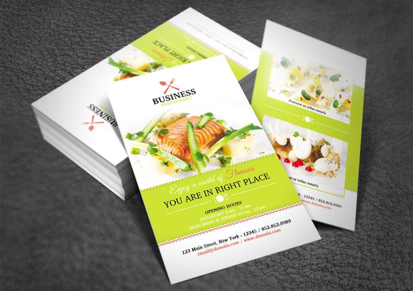 Restaurant Business Card RedPencilMedia
