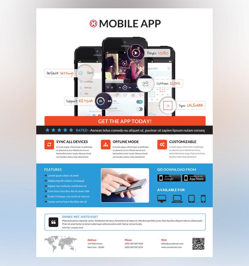 Mobile App Promotion Flyer RedPencilMedia