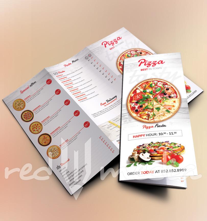 Trifold Pizza Menu / Flyer RedPencilMedia