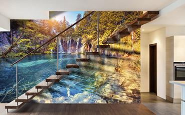 Water Fall Effect Wallpaper Fototapety Wodospad ścienne Na Wymiar Redro Pl