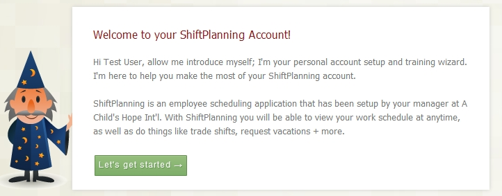 Welcome to ShiftPlanning! Red Shirt Team
