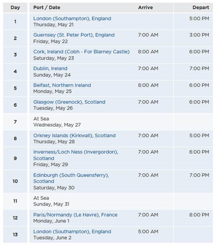 British Isles Cruise on Royal Princess (Part 1 Planning and Pre - 7 day cruise packing list