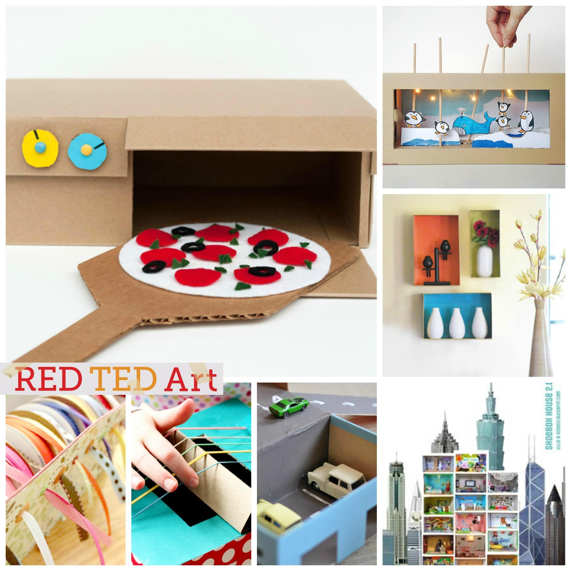 Art Craft Ideas 30 Shoe Box Craft Ideas Red Ted Art S Blog