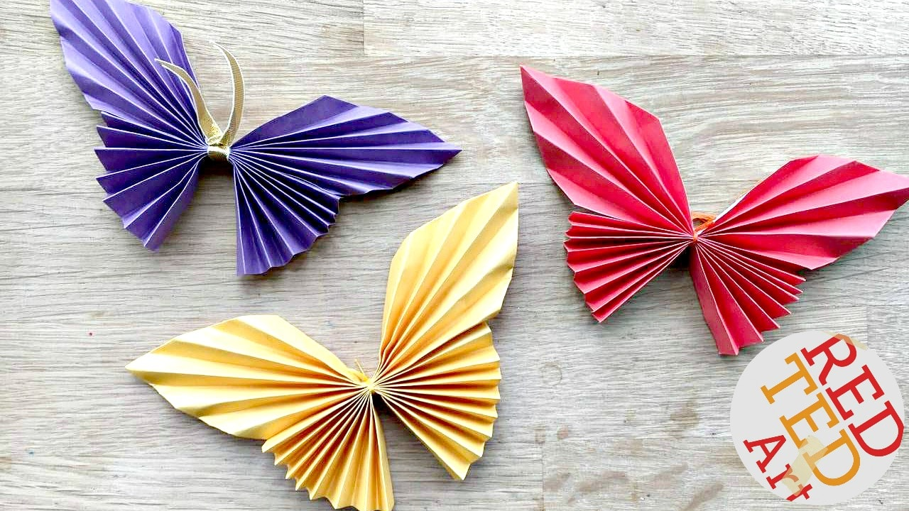 Art Decorating And Crafting Easy Paper Butterfly Red Ted Art