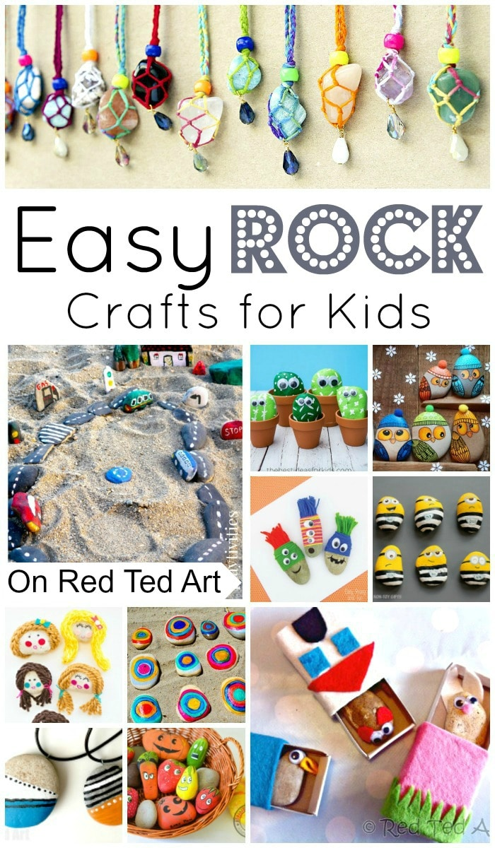 Art Decorating And Crafting Easy Rock Crafts For Kids Red Ted Art