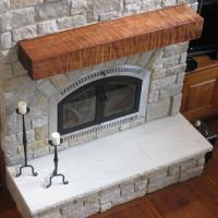 Redwood Fireplace Mantels - Natural/Live Edge Wood ...