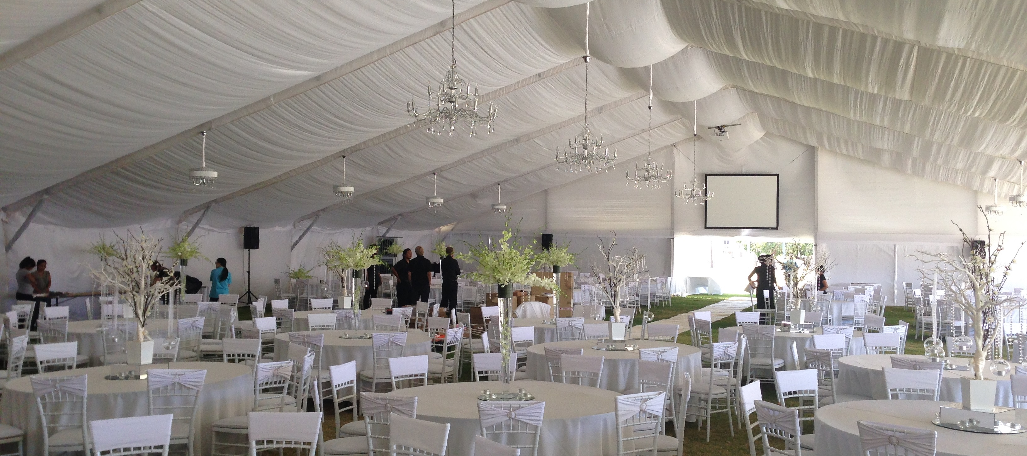 White Umbrella Marquees Marquee South Perth Foreshore 25m White Silk Wedding Marquee