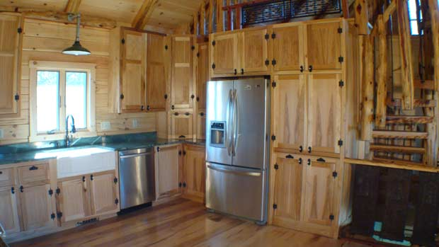 How To Build Island Kitchen Cabinet Hand Crafted Solid Hickory Kitchen Cabinets: Izzo