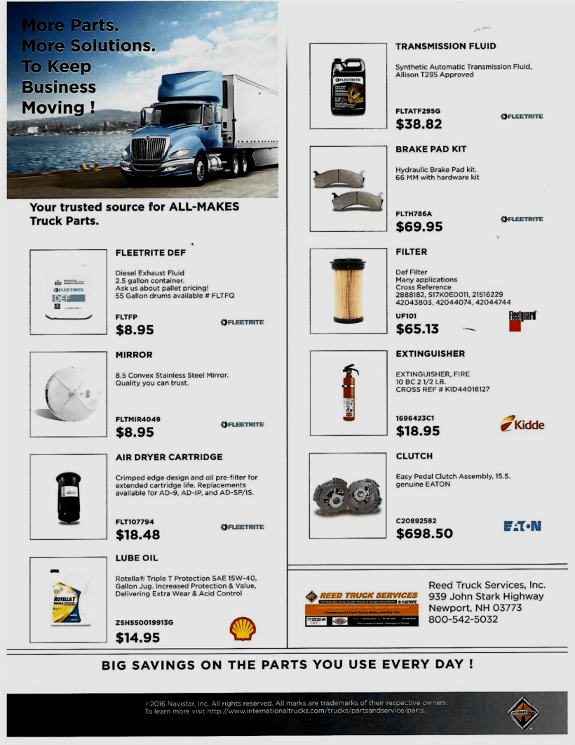 Sept. 2016 Parts Specials - Corrected Resolution
