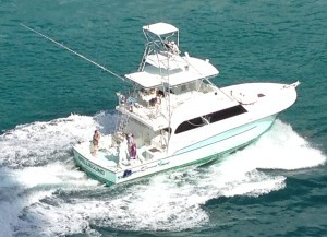 Fishing Charter Boats - Capt. Jay's Spellbound out at sea