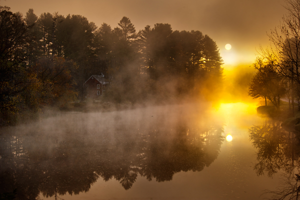 Frosty Fall Leaves Wallpaper Fog Donald Reese Photography