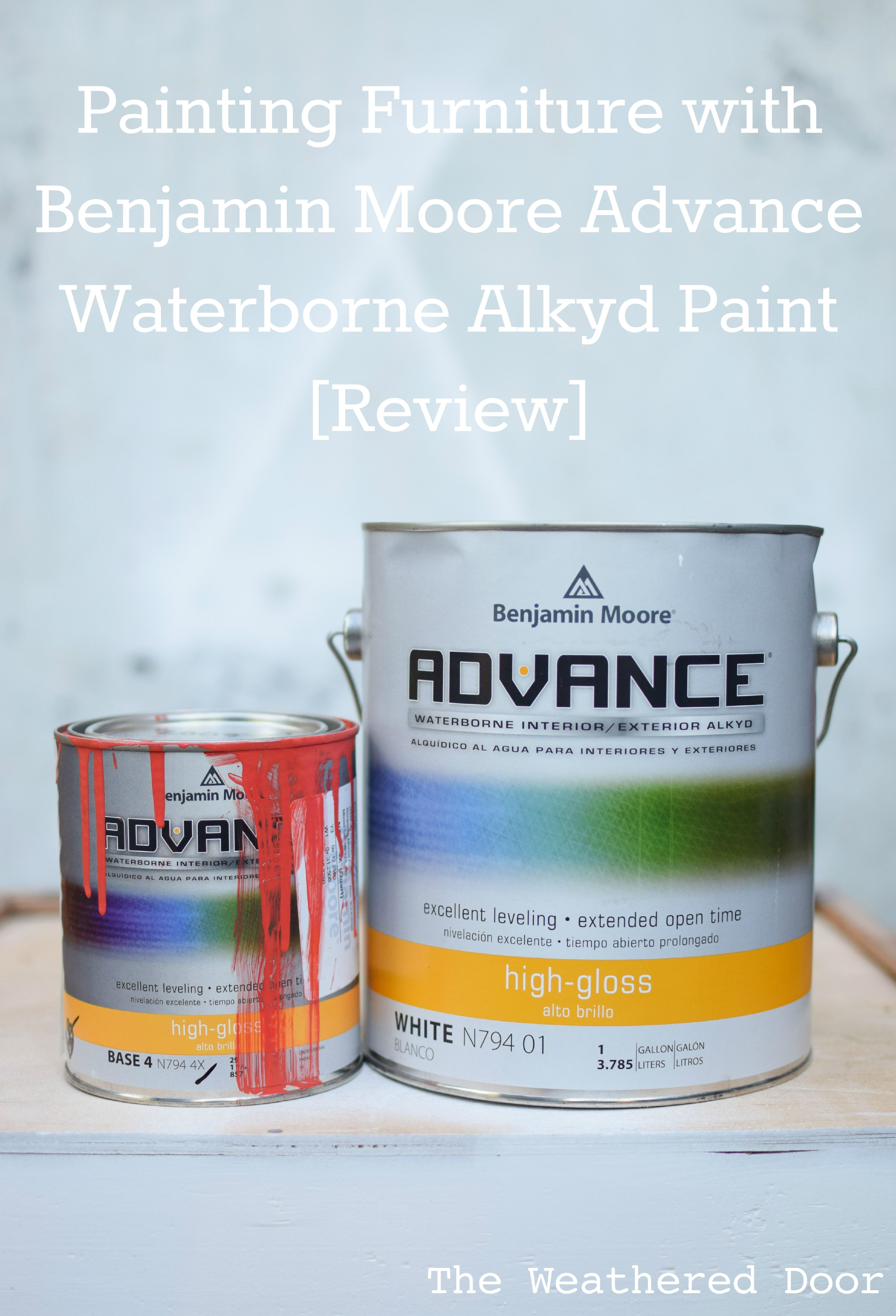 Painting furniture with benjamin moore advance waterborne for Benjamin moore paint reviews
