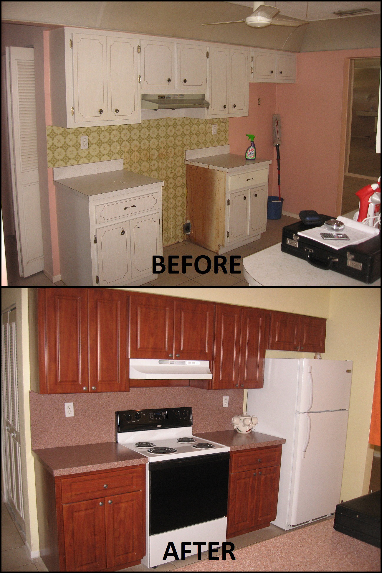 Refacing Kitchen Cabinets Cost Estimate Before And After Pictures Of Kitchen Cabinet Refacing Call