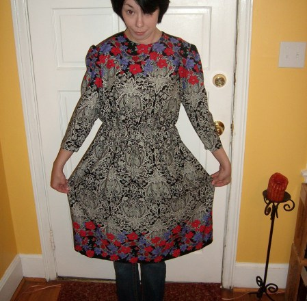 The dress and the 'do are both pretty awful. :/