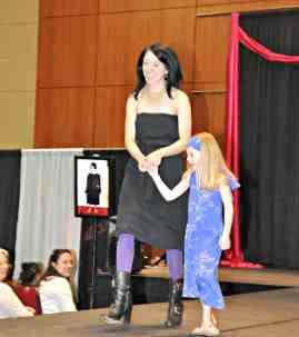 Blyth got a little nervous, so I helped her down the runway!  :)