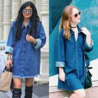 A Kylie Jenner-esque Denim Dress