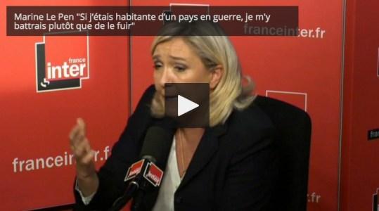 Interview de Marine Le Pen sur France Inter à propos des migrants