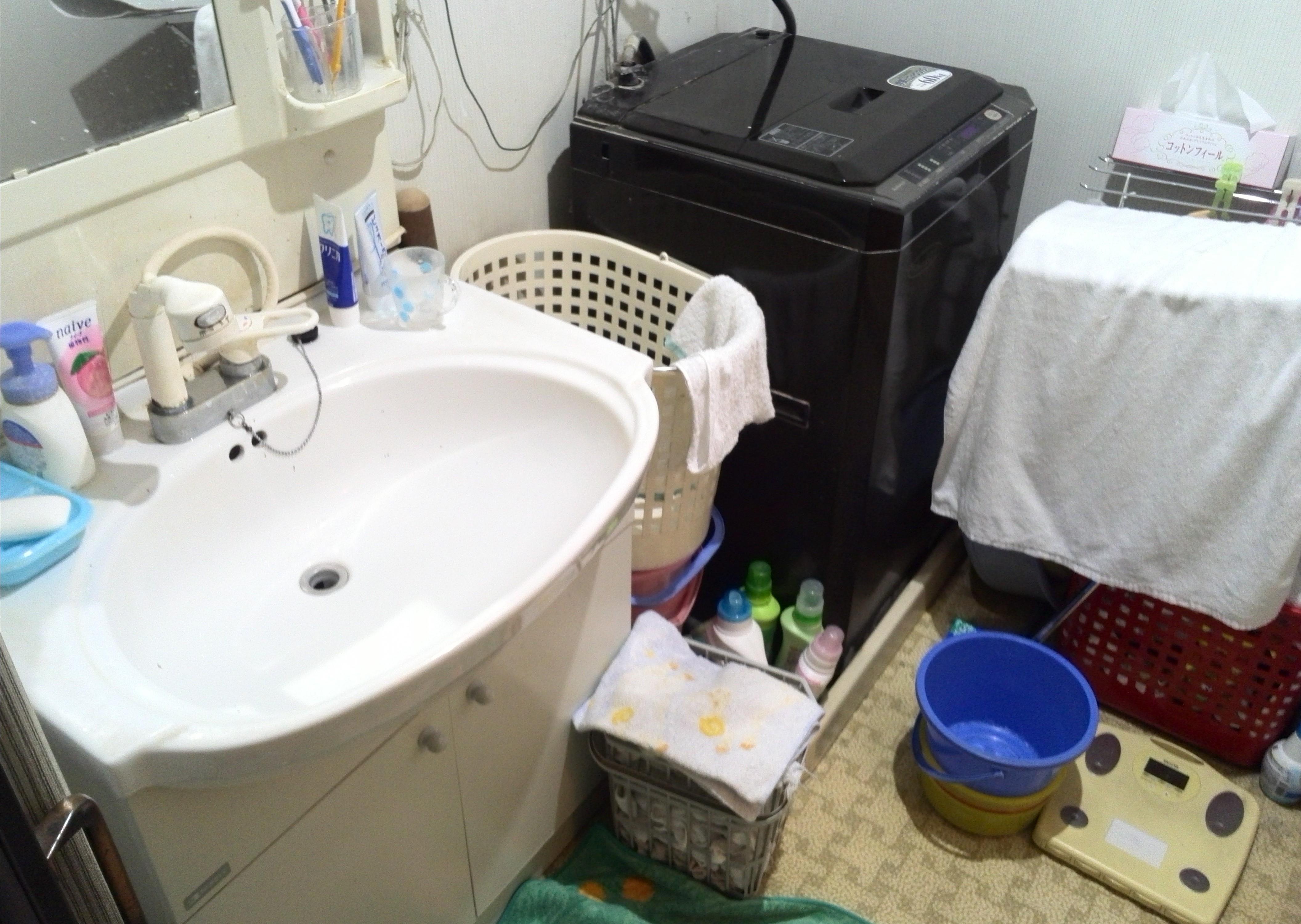 施工前洗面台