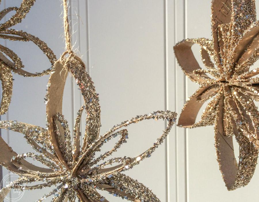 Toilet Paper Tube Snowflake Ornaments Refresh Living