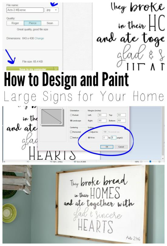 How to Design and Apply Lettering on Wood Signs (for FREE