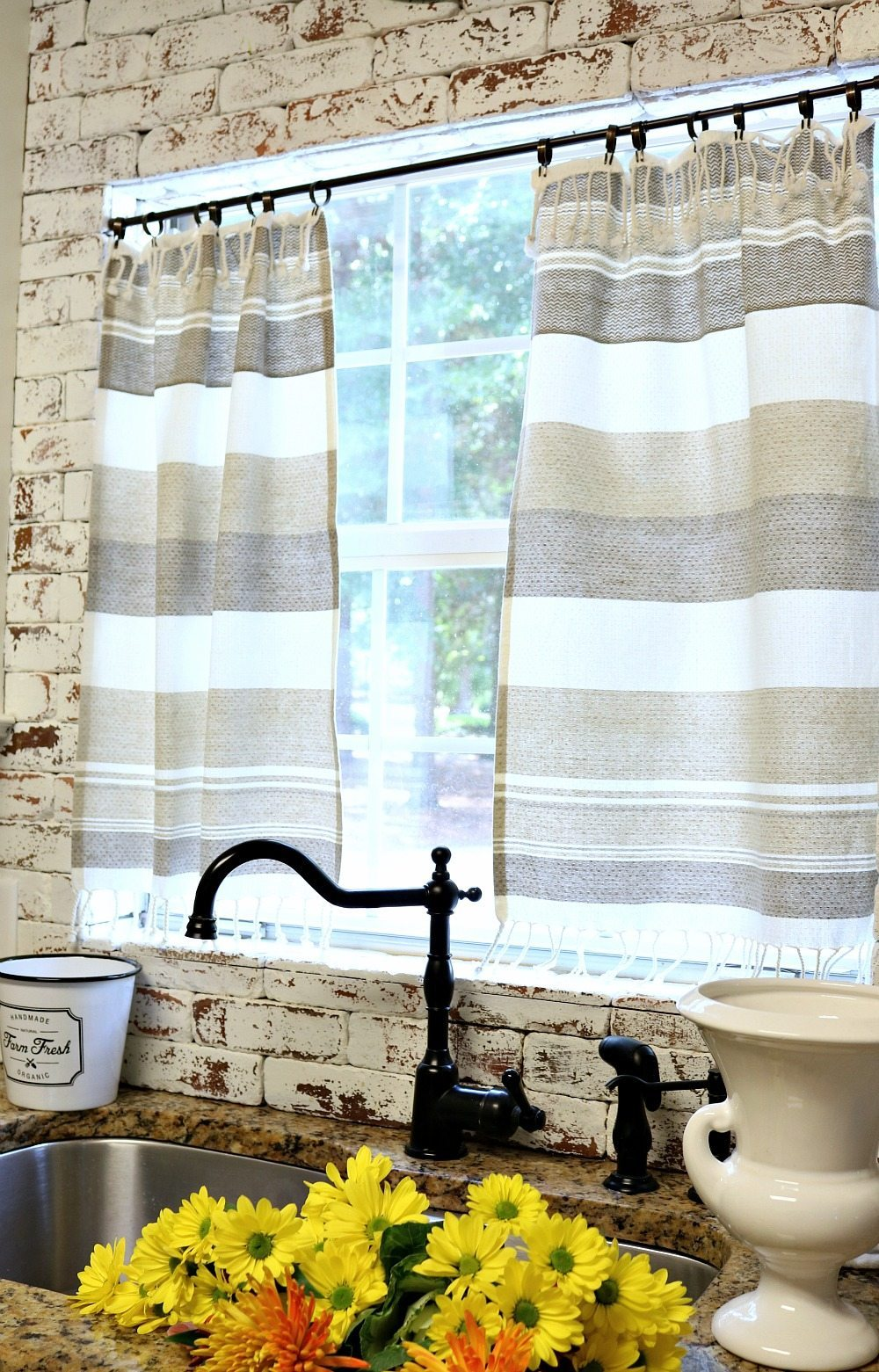 Make Curtains Dishtowel Curtains Refresh Restyle