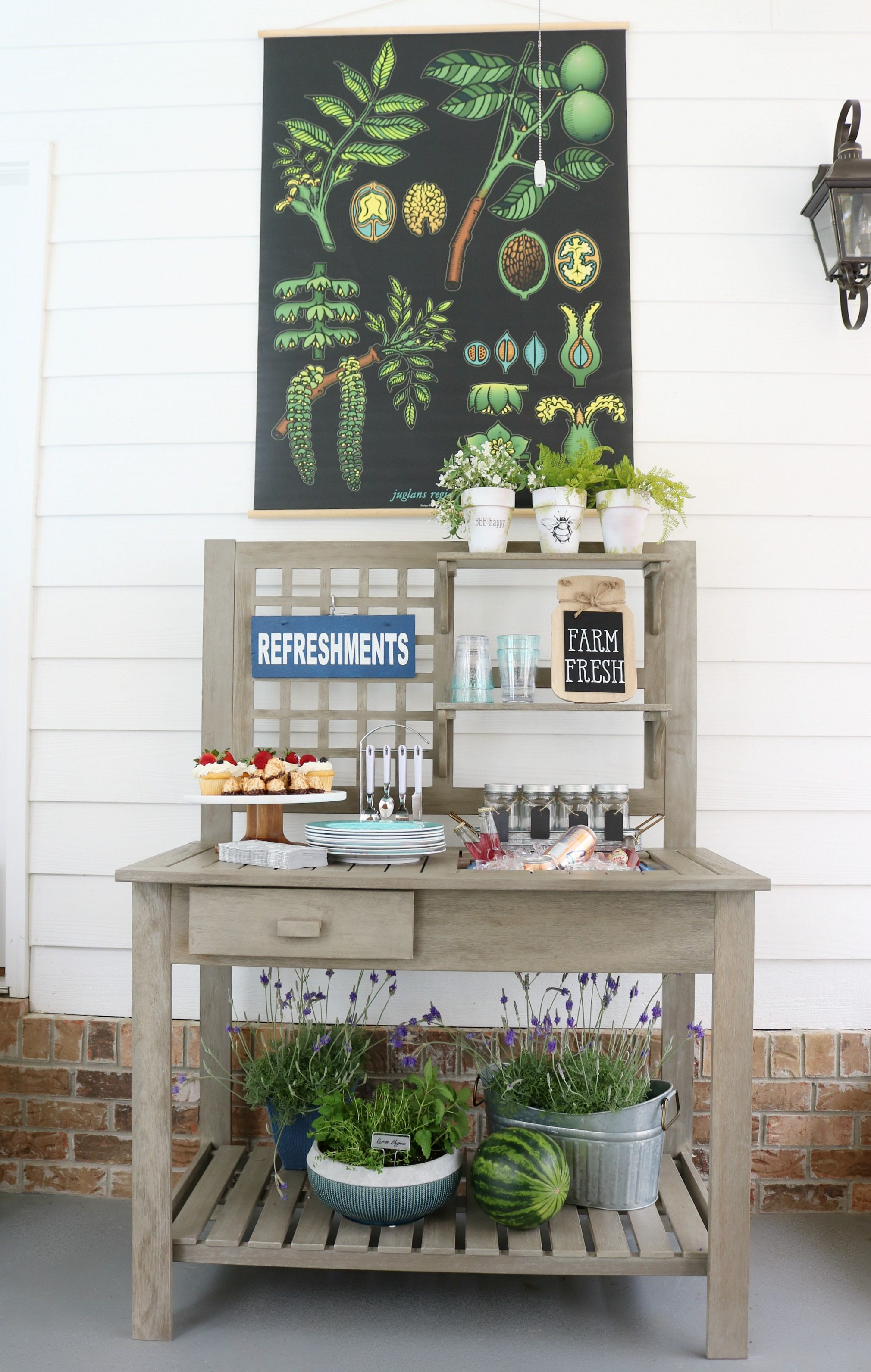 Planting Tables For Sale Farmhouse Potting Bench Outdoor Entertaining Refresh Restyle