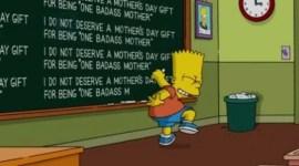 Los Simpsons pizarra de inicio Bart