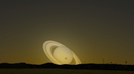 saturno visto desde la orbita de la tierra