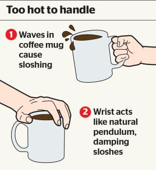 como agarrar una taza de cafe