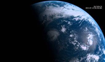 24 horas en la Tierra vistas desde una órbita geoestacionaria