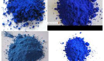 ¿Ves estos montones de polvo azul en 3D?