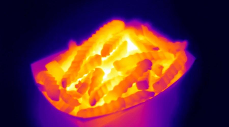 Termografía de la comida basura