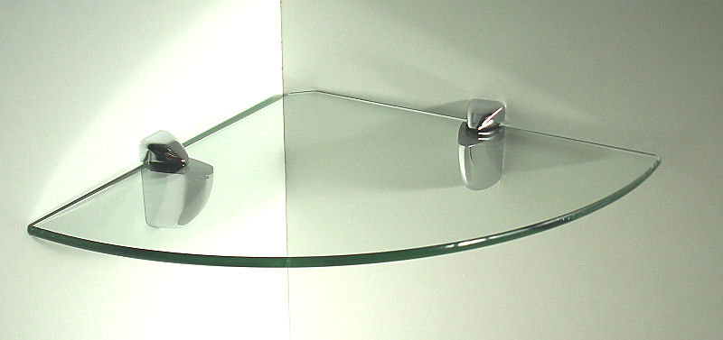 Eckregal Metall Weiß 6 Mm Glasregale