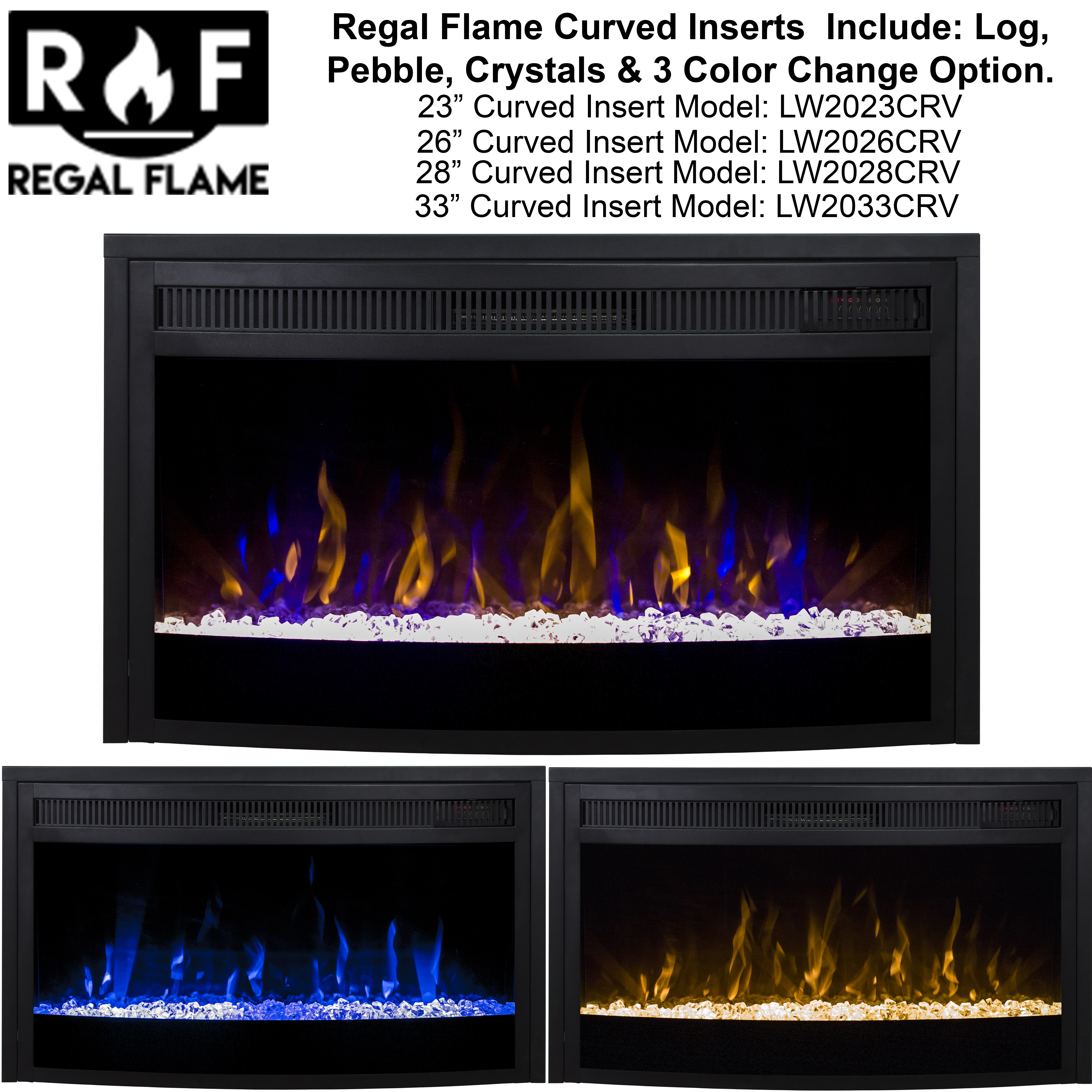 Curved Electric Fireplace Details About Ryan Rove 26 Inch Curved Ventless Heater Electric Fireplace Insert