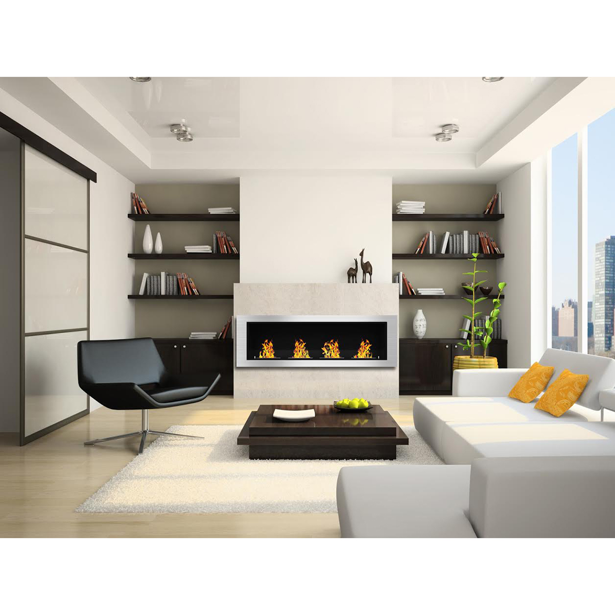 Ethanol Fireplaces Reviews Charlotte 64 Inch Ventless Built In Recessed Bio Ethanol Wall Mounted Fireplace