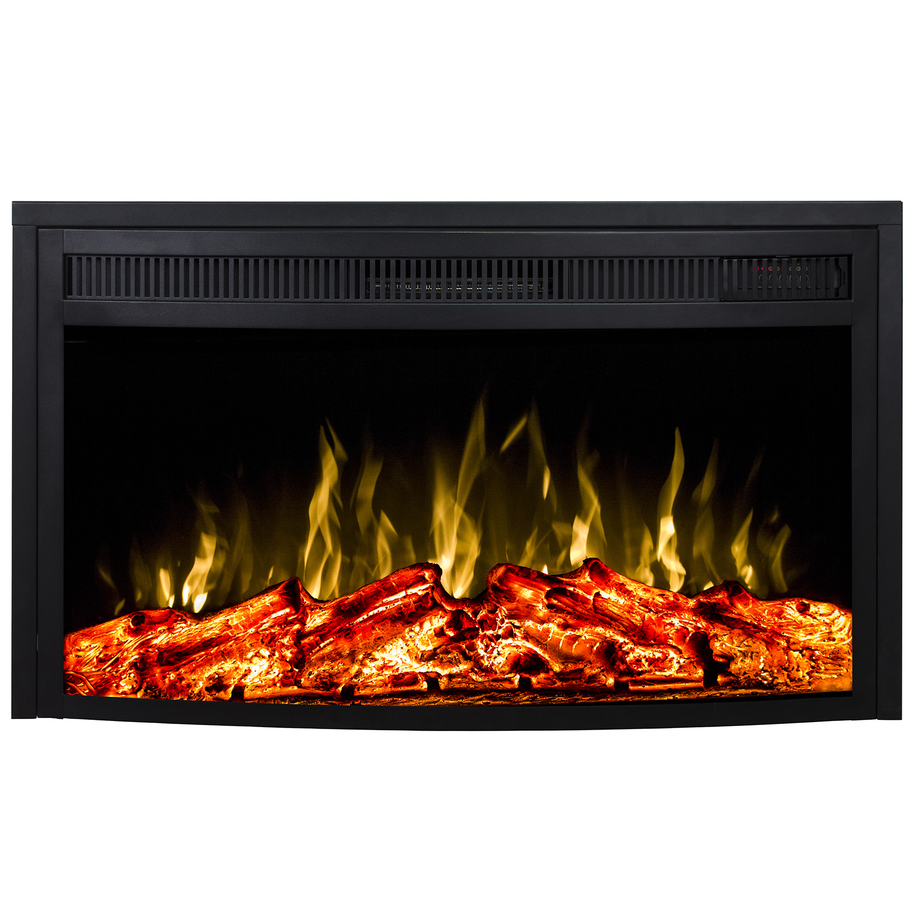 Curved Electric Fireplace 23 Inch Curved Ventless Heater Electric Fireplace Insert