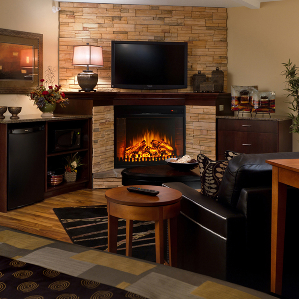 Curved Electric Fireplace 26 Inch Curved Ventless Heater Electric Fireplace Insert