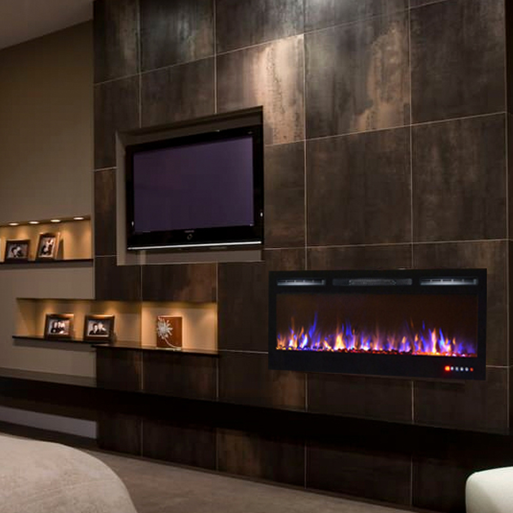 Regal Led Tv 32 Inch Lexington 35 Inch Built In Ventless Recessed Wall Mounted Electric Fireplace Multi Color
