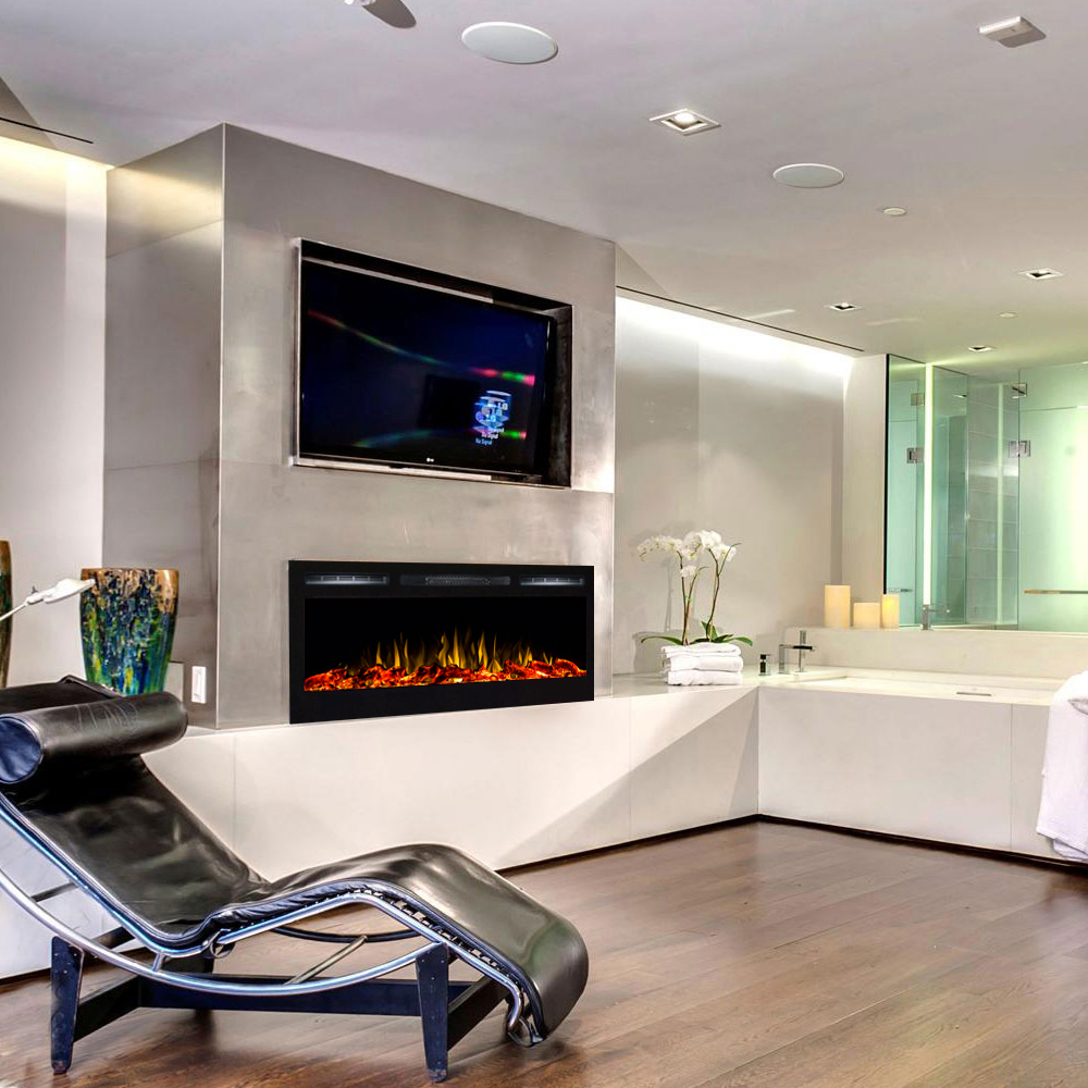 Electric Fireplace Built Into Wall Lexington 35 Inch Built In Ventless Heater Recessed Wll Mounted Electric Fireplace Log