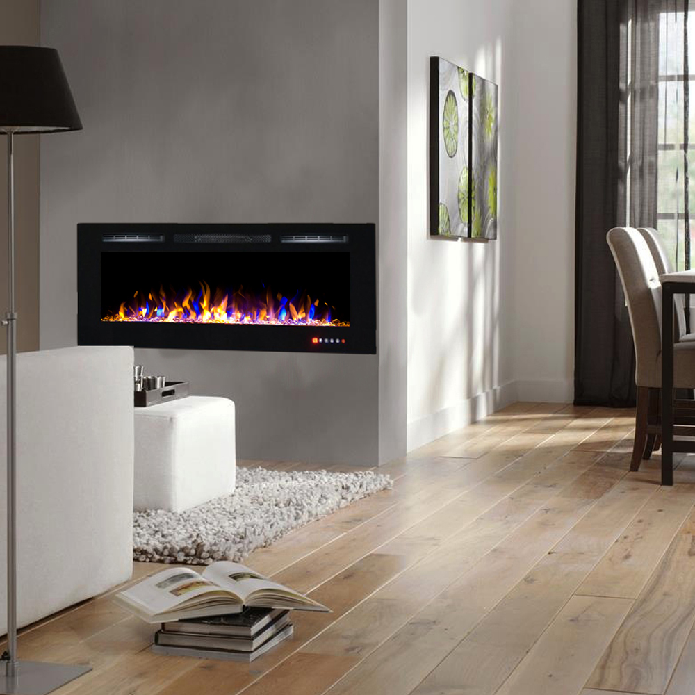 Fireplace Inserts Lexington Ky Fusion 50 Inch Built In Ventless Heater Recessed Wall Mounted Electric Fireplace Multi Color