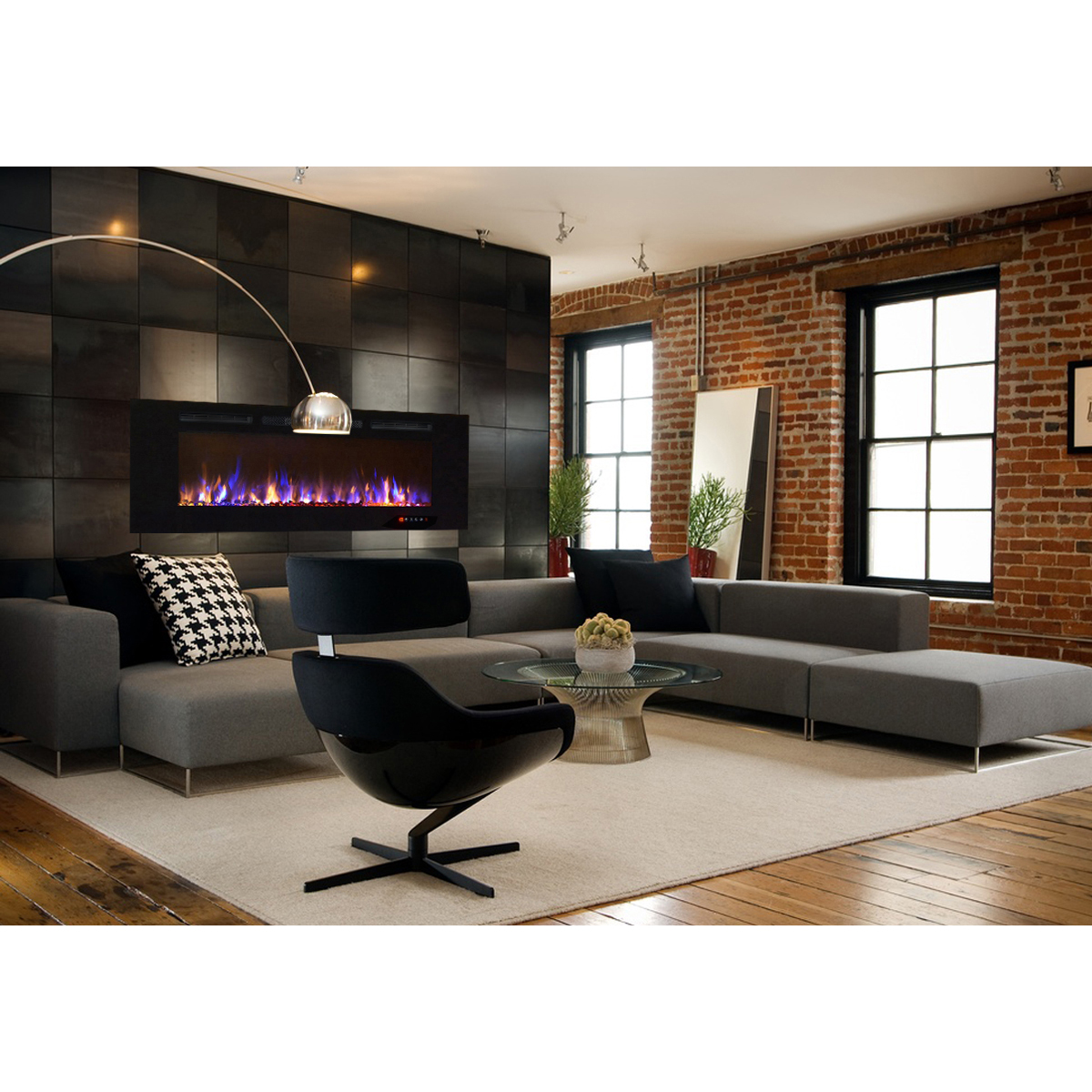 Electric Fireplace Built Into Wall Astoria 60 Inch Built In Ventless Heater Recessed Wall Mounted Electric Fireplace Multi Color