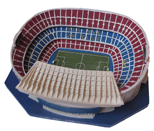 Euro Libra Esterlina Maqueta Camp Nou Fc Barcelona