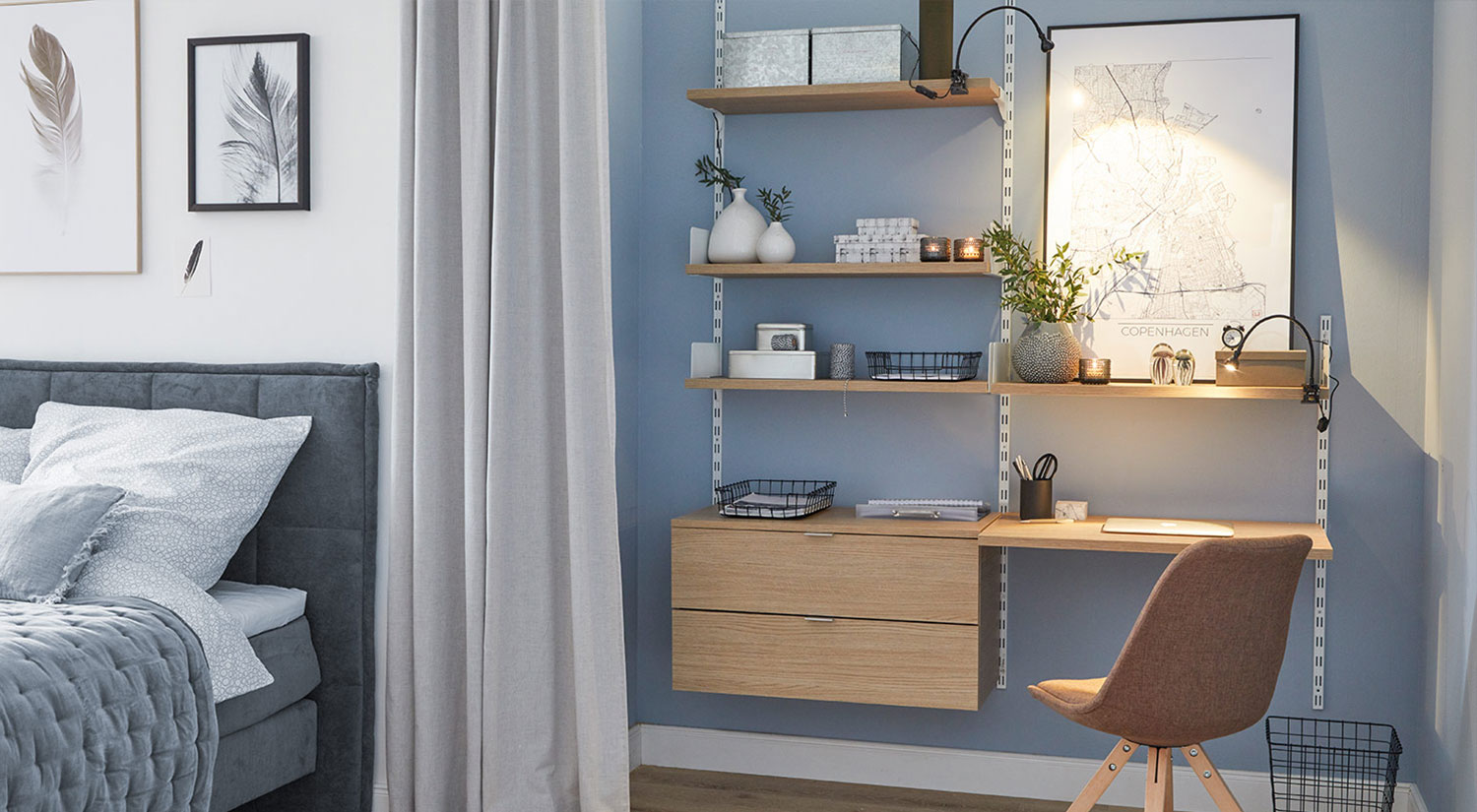 On Wall Office Shelving For Home Office Furniture Regalraum